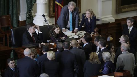 Senators during a contentious debate on the measure on Tuesday.