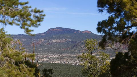 The area known as the Bears Ears is seen on April 7, 2016 east of Blanding, Utah. President Obama declared it a national monument, a status Native American tribes sought.