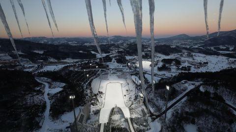 The Alpensia Ski Jumping Centre which is scheduled to host the ski jumping and nordic combined events.