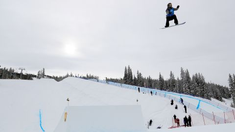 The Big Air qualifying round of the FIS Snowboard World Cup 2017 at Copper Mountain, Colorado.