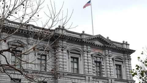 A woman walks by the United States Court of Appeals for the Ninth Circuit building February 6, 2017 in San Francisco, California, where on February 7, 2017, three federal judges will hear oral arguments in the challenge to US President Donald Trump's travel ban. / AFP / Josh Edelson        (Photo credit should read JOSH EDELSON/AFP/Getty Images)