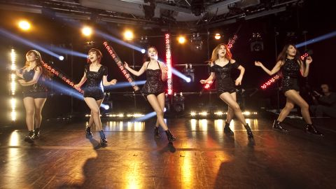 From left to right,  Yenny, Sun, Sohee, Lim and Yubin of the Wonder Girls onstage at iHeartRadio Presents Wonder Girls at iHeartRadio Performance Theater on September 5, 2012, in New York City. The decade-old group disbanded on January 26, 2017.