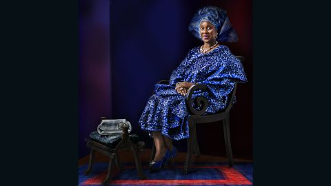 Born in Nigeria in 1964, the photographer's previous works have been exhibited in the Solomon R. Guggenheim Museum, as well as the Smithsonian Museum of Art.<br />Pictured: Joke Silva