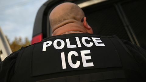 LOS ANGELES, CA - OCTOBER 14: U.S. Immigration and Customs Enforcement (ICE), agents detain an immigrant on October 14, 2015 in Los Angeles, California. ICE agents said the immigrant, a legal resident with a Green Card, was a convicted criminal and member of the Alabama Street Gang in the Canoga Park area. ICE builds deportation cases against thousands of immigrants living in the United States. Green Card holders are also vulnerable to deportation if convicted of certain crimes. The number of ICE detentions and deportations from California has dropped since the state passed the Trust Act in October 2013, which set limits on California state law enforcement cooperation with federal immigration authorities.