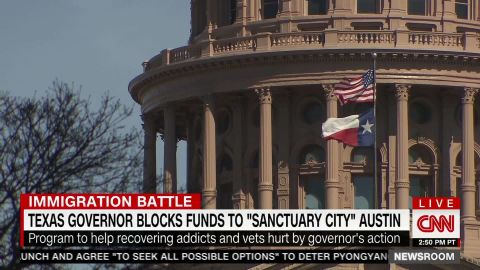 The state of Texas passed a bill to restrict sanctuary cities.