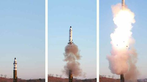 The Pukguksong-2 was launched on Sunday, according to North Korean state media.