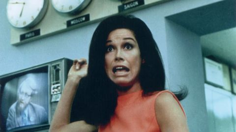 """Mary Tyler Moore did more than make us laugh throughout her career; she broke ground in the 1970s by portraying a single, 30-something working woman. That's all TV comedies were about in the '90s and 2000s, but at the dawn of the '70s, """"The Mary Tyler Moore Show"""" was an entirely new breed. If the """"Girls"""" of today are going to raise their drinks to anyone, it should be in celebration of Moore."""