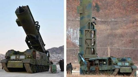 The missile launching system used to fire the Pukguksong-2.