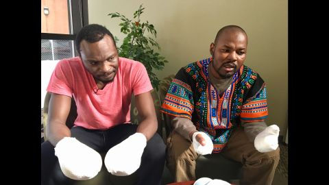 Two Ghanaians who fled US suffered frostbite.