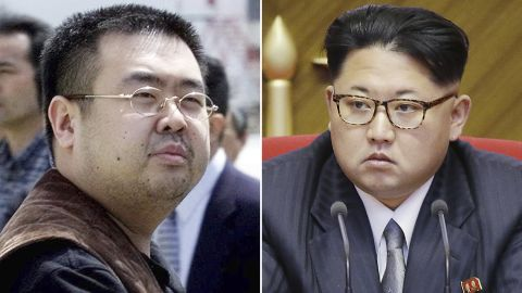 Kim Jong Nam, left, was the half-brother of North Korea's leader Kim Jong Un, right.