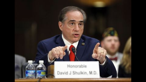 """Shulkin speaks at his confirmation hearing. He was <a href=""""http://www.cnn.com/2017/01/11/politics/david-shulkin-picked-to-head-department-of-veterans-affairs/"""" target=""""_blank"""">the VA's undersecretary for health,</a> a position in which he oversaw more than 1,700 health care sites across the United States."""