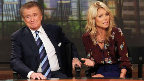 """Regis Philbin and Kelly Ripa hosted """"LIVE! with Regis and Kelly"""" for a decade."""