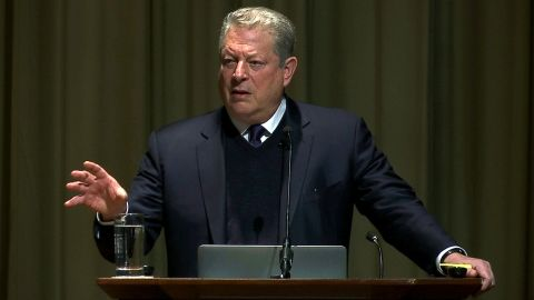 Former Vice President Al Gore, the founder and chairman of The Climate Reality Project, opens the Climate & Health Meeting at The Carter Center in Atlanta on Thursday, Feb. 16, 2017.