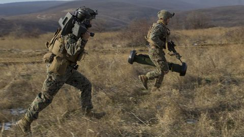 US Marines and Bulgarian forces take part in joint training in December in the Novo Selo area of Bulgaria.
