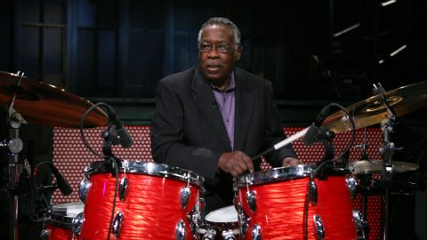 """Clyde Stubblefield, seen here on """"Late Night with Jimmy Fallon,"""" died February 18 at age 73. He was the drummer for James Brown in the 1960s and '70s. He laid down the groove on such Brown hits as """"Cold Sweat,"""" """"Sex Machine"""" and """"Say it Loud, I'm Black and I'm Proud."""" The drum break in the song """"Funky Drummer"""" has been sampled and used in over 1,000 songs."""