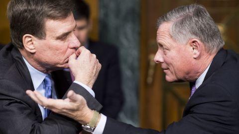 Sens. Mark Warner, left and  Richard Bur sent letters asking for materials to be kept, a Senate aide said.