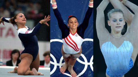 11 Oct 1999: Jeanette Antolin of the USA in action during the Tianjin Artistic Gymnastics World Championships in Tianjin, China.  19 Sep 2000: Jamie Dantzscher of the United States dismounts from the uneven bars during the Women's Gymnastics at the Sydney Superdome in the 2000 Olympics in Sydney, Australia.Mandatory Credit: Al Bello /Getty Images  31 Aug 2001: Jessica Howard of the United States in action during the ball competition of the Rhythmic Gymnastics individual apparatus finals at the Brisbane Convention and Entertainment centre during the Goodwill Games in Brisbane, Australia. DIGITALIMAGE. Mandatory Credit: Darren England/ALLSPORT