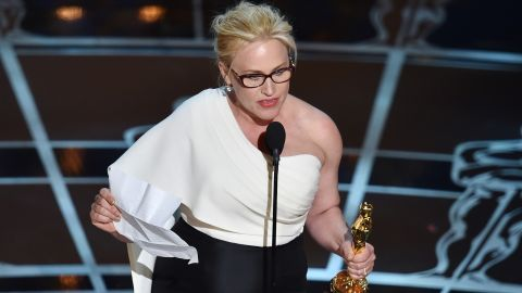 """""""...To every woman who gave birth. To every taxpayer and citizen of this nation, we have fought for everybody else's equal rights. It's our time to have wage equality once and for all and equal rights for women in the United States of America."""" -- Patricia Arquette, accepting the best supporting actress award for her role in """"Boyhood"""" at the 87th Academy Awards on February 22, 2015 at Dolby Theater"""