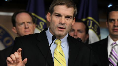 Rep. Jim Jordan (R-OH) speaks during a news conference July 26, 2011 on Capitol Hill in Washington, DC.