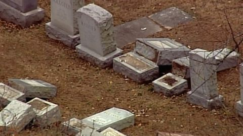 Police are investigating the damage to headstones at Missouri's Chesed Shel Emeth Society cemetery.