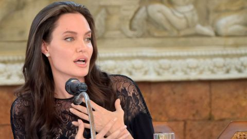 """Angelina Jolie speaks to media about her new film """"First They Killed My Father."""""""
