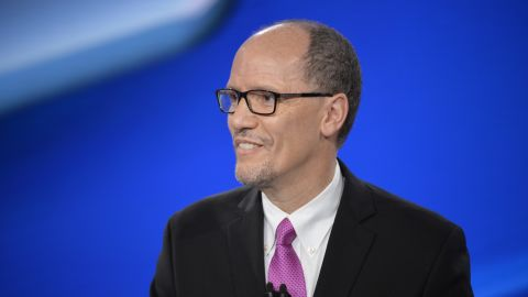 """Tom Perez Democratic Leadership Debate moderated by CNN Chief Political Correspondent Dana Bash and """"New Day"""" anchor Chris Cuomo from the CNN Center in Atlanta. The candidates will lay out strategies for the 2018 midterm elections, rebuilding the Democratic Party and the DNC's role under the Trump administration."""