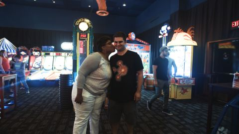 The couple loves to play arcade games at Dave & Buster's.