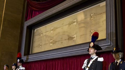 """The shroud is believed by many Christians to be the burial shroud of Jesus -- but <a href=""""http://www.cnn.com/2015/03/03/living/finding-jesus-q-a-shroud-turin/"""">science suggests otherwise</a>. Carbon dating indicates it dates to the 13th or 14th century. The cloth is regarded by the scientifically minded as a medieval forgery."""