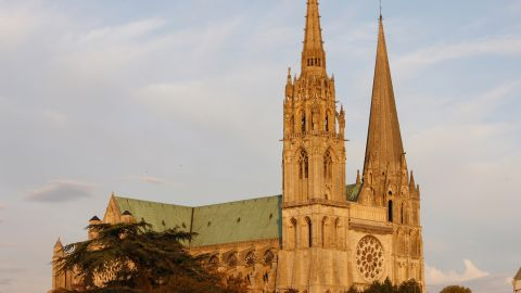 Chartres is home to one of Europe's most stunning Gothic cathedrals. The church also houses one of Christianity's most venerated relics --The Sancta Camisia. The tunic is said to have been worn by the Virgin Mary during Jesus' birth.