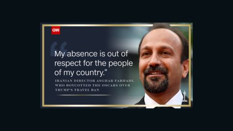 Asghar Farhadi chose not to attend the 89th Academy Awards.