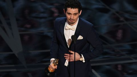 """Damien Chazelle became the youngest person ever to win a best director Oscar. The 32-year-old won for """"La La Land,"""" which won six awards on the night."""