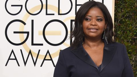 Octavia Spencer attends the Golden Globe Awards last month.