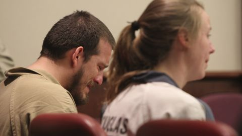 Jose Torres and Kayla Norton await sentencing at the Douglas County Courthouse.