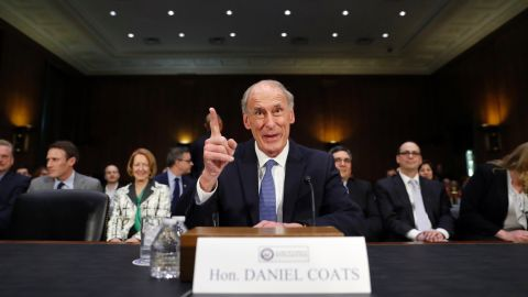 """Coats speaks on Capitol Hill before his confirmation hearing in February. <a href=""""http://www.cnn.com/2017/01/05/politics/dan-coats-picked-to-be-director-of-national-intelligence/"""" target=""""_blank"""">The former US senator from Indiana</a> was the US ambassador to Germany in the first term of George W. Bush's administration."""