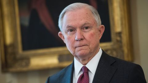 WASHINGTON, DC - FEBRUARY 9: Attorney General Jeff Sessions listens as President Donald Trump speaks during a swearing in ceremony in the Oval Office of the White House in Washington, DC on Thursday, Feb. 08, 2017. (Photo by Jabin Botsford/The Washington Post via Getty Images)