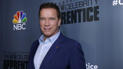 Arnold Schwarzenegger at a press junket for 'The New Celebrity Apprentice'