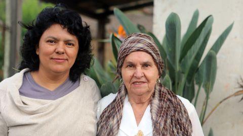 Berta Cáceres with her mother Doña Berta in their home in La Esperanza, Intibucá, Honduras.