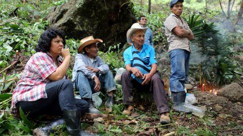 Berta Cáceres by the Gualcarque River in the Rio Blanco region of western Honduras.