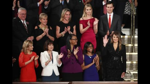 """Trump arrives at <a href=""""http://www.cnn.com/2017/02/28/politics/gallery/trump-joint-address-congress/index.html"""" target=""""_blank"""">a joint session of Congress</a> to hear a speech by her husband in February 2017."""