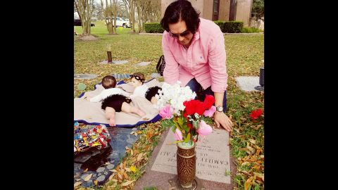 """Dunn and Syed Ali decided against another pregnancy. """"We lost a baby, and we almost lost me. We couldn't put another baby or me through that again,"""" she said. They now have twin daughters Darcy Camille and Sophie Cosette with surrogate Angela Zarate."""