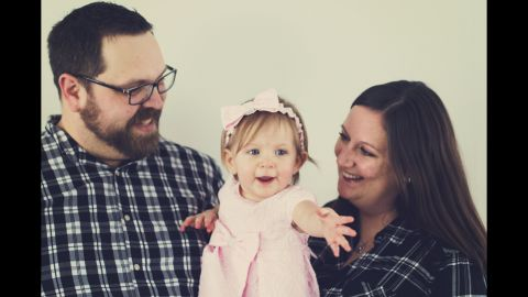 """Jennifer and Jake Voelker are now considering having another baby or possibly adopting. """"My husband and I are in a quandary,"""" Jennifer Voelker said. """"I'm more inclined to say yes, and he's more inclined to say no. I only remember bits of it, but he lived every minute."""""""