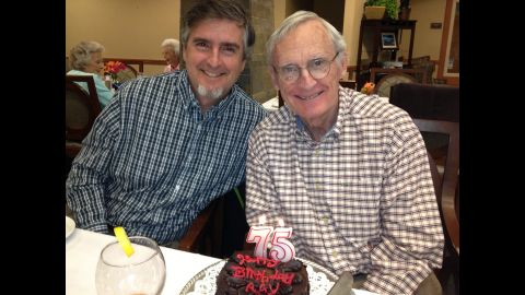Doug Rider with dad Ray, who was diagnosed with Alzheimer's 10 years ago.