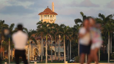 The Mar-a-Lago resort is seen on February 11, 2017, in West Palm Beach, Florida.