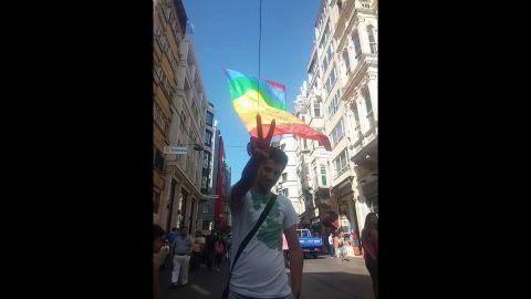 Zigorat at an LGBT rally.
