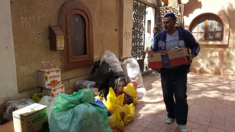 Donations from across Egypt continuously arrive in churches and shelters catering to the fleeing Christians.
