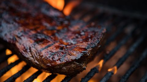 Too much red meat led to to an estimated 4.2% of diabetes-related deaths during 2012. It's included in the recommended 5.5 daily ounces of protein-rich foods. In addition to protein, meat provides important nutrients such as iron, copper, zinc, selenium, choline, phosphorous, B vitamins (including niacin and riboflavin), vitamin D and vitamin E.