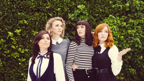 """Members of Australian folk band """"All Our Exes Live in Texas,"""" from left to right: Georgia Mooney, Hannah Crofts, Katie Wighton and Elana Stone."""