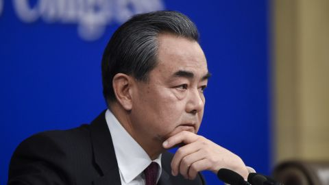 China's Foreign Minister Wang Yi at a press conference in Beijing on March 8.