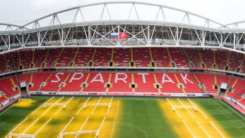 <strong>Spartak Stadium World Cup schedule: </strong>Last 16<br /><strong>Legacy: </strong>As well as hosting Spartak Moscow and the national side, the stadium will provide the center piece for a new residential development.