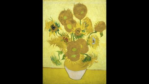 """In spite -- or perhaps because -- of his troubles, he created legendary masterpieces, such as his """"Sunflowers"""" series, pictured here."""